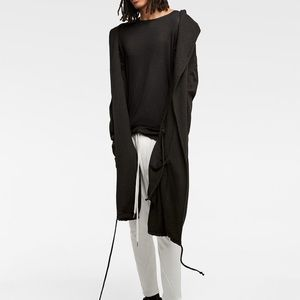 Zara man semi sheer black long sleeve shirt NWT